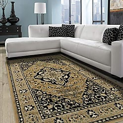 Home City Inc. Superior Elegant Glendale Collection Area Rug, 8mm Pile Height with Jute Backing, Traditional Oriental Rug Design, Anti-Static, Water-Repellent Rugs, 4 x 6 Rug, Gold