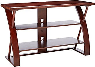 Round Hill Furniture Solid Wood TV Stand, Brown