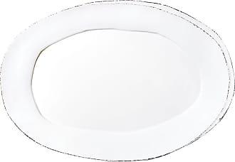 Vietri Lastra Oval Platter, White