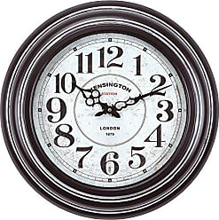 Yosemite Home Decor Yosemite Home Decor Circular Iron Wall Clock, Frame, White Face, Text, Black Hands