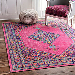 nuLOOM Traditional Vintage Eternal Palmetto Knot Medallion Area Rugs, 5 x 7 5, Pink