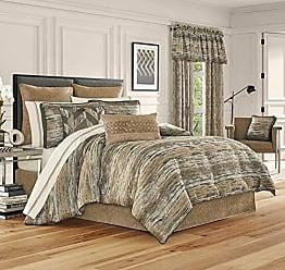 Five Queens Court Sussex Modern Lodge 4 Piece Comforter Set, Gold, Queen 92x96