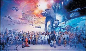 RoomMates Star Wars Saga Chair Rail Mural - JL1230M