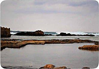 a3195eb15d48 KESS InHouse SC4103ABM02 Bath Mat Sylvia Coomes Dark Sea Blue Coastal  Memory Foam Bath Mat,