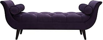 Jennifer Taylor Home 85170-864 Alma Tufted Flare Arm Entryway Bench, Purple