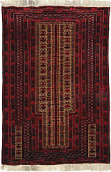 Nain Trading Baluch Rug 49x30 Dark Grey/Dark Brown (Afghanistan, Hand-Knotted, Wool)