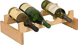 Wooden Mallet 4 Bottle Dakota Wine Rack, Unfinished