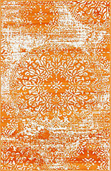 Unique Loom 3141686 Area Rug, 3 x 5 Rectangle, Orange