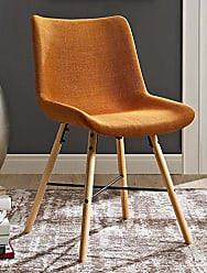 Walker Edison WE Furniture AZH18SNO2OR Dining Chair, Set of 2, Orange