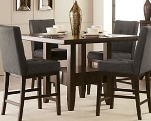 Ashley Furniture Chanella Counter Height Dining Room Table Base, Dark Brown