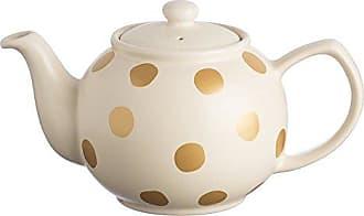 Price Kensington Teekanne Mit Deckel Klassische Englische Beige Goldenen Punkten