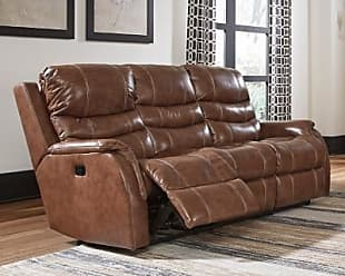 Ashley Furniture Metcalf Power Reclining Sofa, Nutmeg