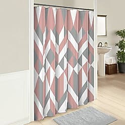 Ellery Homestyles Marble Hill Lena Shower Curtain, 72 x 72, Pink