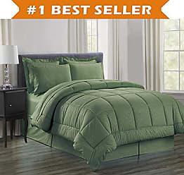 Elegant Comfort Luxury Bed-in-a-Bag Comforter Set on Amazon! Elegant Comfort Wrinkle Resistant - Silky Soft Beautiful Design Complete Bed-in-a-Bag 8-Piece Comforter Set -Hypoallergenic- King Sage