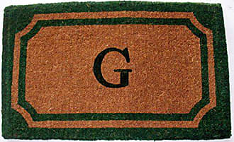 Geo Crafts Imperial Wilkinson Doormat, 24 by 39-Inch, Green, G Monogram