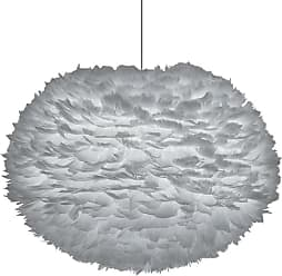 Umage 02090 Eos Large Plug In Eos 26 Feather Pendant in Light Grey