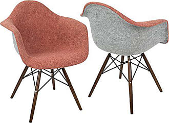 LumiSource WOYBR CH-NFLF R+E2 Fabric, Wood, Metal Neo Flair Duo Chair
