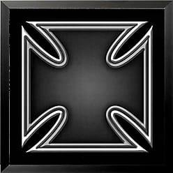 Buyartforless Framed Black Iron Cross 24x24 Art Print Poster Symbol of Bravery and Individualism