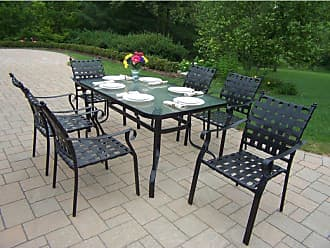 Oakland Living Outdoor Oakland Living Web 7 Piece Patio Dining Set - 10188-7-BK
