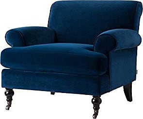 Jennifer Taylor Home 63360-1-859 Fabric Living Room Chair, Navy Blue