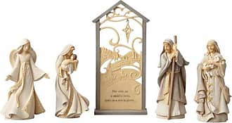 Enesco Foundations Christmas Nativity Scene Figurine (Set of 5), Multicolor