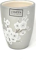 Five Queens Court Mateo Cherry Blossom Luxury Stoneware Tumbler, Sea Foam