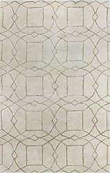 Bashian Greenwich HG303 Collection Hand Tufted Wool & Viscose Area Rug, 2.6 x 8, Ivory