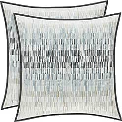 Five Queens Court Fulton 20 Square Geometric 100% Twill Cotton Throw Pillow, Teal, Size