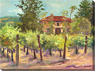 West of the Wind Villa And Vines Indoor/Outdoor Canvas Art - OU-71137