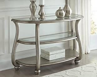 Ashley Furniture Coralayne Sofa/Console Table, Silver Finish