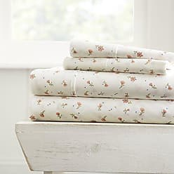 iEnjoy Home 4 Piece Sheet Set Soft Floral Patterned, Full, Pink
