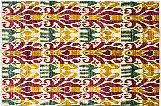 Solo Rugs Ikat Hand Knotted Area Rug, 5 1 x 8 4, Multicolor