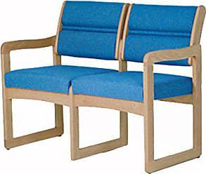 Wooden Mallet DW2-2 Valley 2-Seat Sofa, Medium Oak/Charcoal Grey