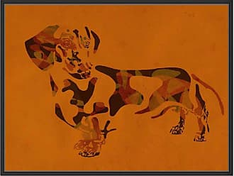Ptm Images Abstract Furry II Framed Wall Art Orange - 9-89146