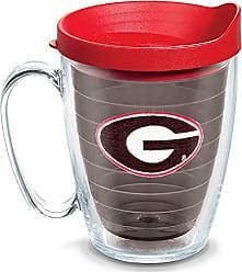 Trevis Tervis 1084323 Georgia Bulldogs Logo Tumbler with Emblem and Red Lid 16oz Mug, Quartz