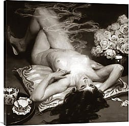 Bentley Global Arts Global Gallery Budget GCS-379405-36-142 Vintage Nudes Leisure Time Gallery Wrap Giclee on Canvas Wall Art Print
