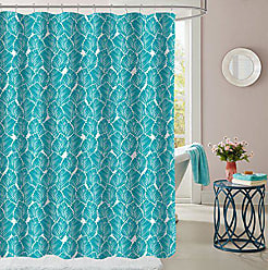 Sweet Home Collection Shower Curtain 70 x 72 Durable Fabric Unique Stylish Tropical Leaf Teal Pattern