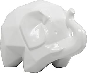 Varaluz Casa 401A14WH Origami Zoo Ceramic Elephant Statue - White