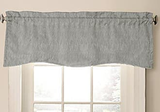 Ellery Homestyles Beautyrest Barrou 52 x 18 Short Valance Small Window Curtains Bathroom, Living Room and Kitchens, Smoke, 52x18