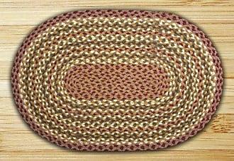Earth Rugs 06-324 Oval Rug, 4 x 6, Olive/Burgundy/Gray