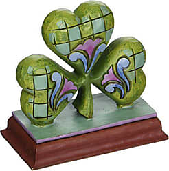 Enesco Jim Shore Heartwood Creek Mini Shamrock Stone Resin Figurine, 2.875
