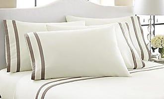 PCT 6 Piece 1000TC Egyptian Cotton: Ivory-Mocha/Queen PCT