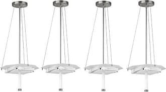 Philips Forecast Taylor 3 Light Pendant Fixture, Satin Nickel Finish (4 Pack)
