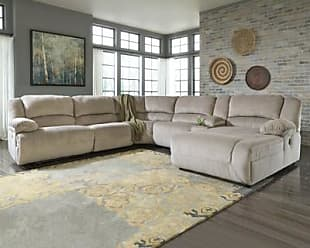 Ashley Furniture Toletta 6-Piece Reclining Sectional with Chaise Non-Power, Granite