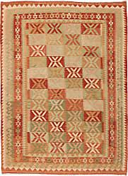 Nain Trading Hand Woven Kilim Afghan 67x50 Orange/Pink (Wool, Afghanistan)