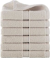 Westpoint Home GRAND PATRICIAN SUITES 6 PIECE COTTON WASH CLOTH SET - 6 WASH CLOTHS - Densely Woven 3 ply Loop Yarn, 100% Cotton, Thick, Plush, Ultra Absorbent - Luxury, Hotel, Bathroom - Linen Beige