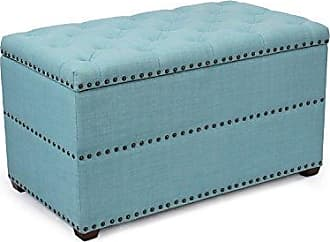 Simmons Upholstery 8530BR-09 Seven Seas Abington Ottoman Light Blue 8530BR-09 Abington Seven Seas