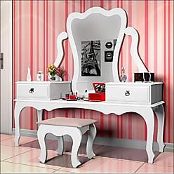 JB Bechara Penteadeira com Espelho 2 Gavetas Luxo 7900 JB Bechara Branco