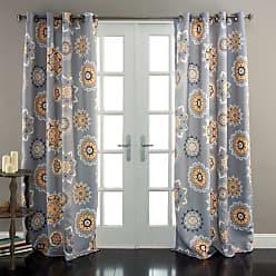 Lush Décor Adrianne Window Curtains Set White / Tangerine - C28889P14-000