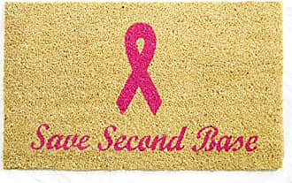 Geo Crafts Vinyl Back Save Second Base Doormat